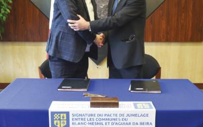 Assinatura de geminação Le Blanc-Mesnil_Aguiar da Beira